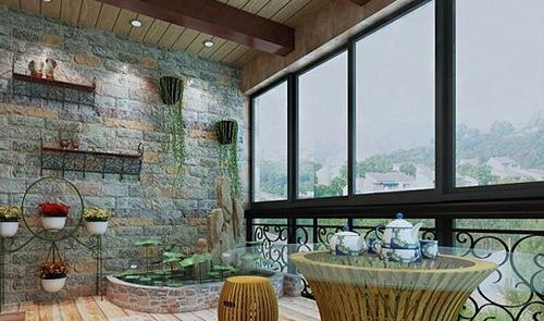 莱州包阳台设计